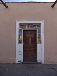 Old Door in Mesilla New Mexico just off the Plaza