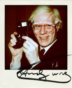 Andy Warhol in our ode to the polaroid camera