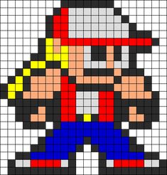 Newest Pony Bead Patterns Fuse Bead Patterns, Kandi Patterns, Beading Patterns, Pearler Beads, Fuse Beads, Video Game Crafts, King Of Fighters, Perler Bead Art, Pony Beads