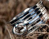 Wikkelknoop ring zilver