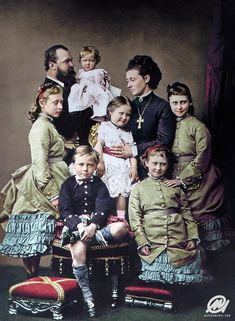 1876 - Hesse and by Rhine family. Queen Victorias grandchild Princess Alix of Hesse and by Rhine is remembered best as Alexandra Feodorovna the last Empress of Russia. Queen Victoria Descendants, Queen Victoria Family, Queen Victoria Prince Albert, Victoria And Albert, Princess Victoria, Victoria S, Princess Louise, Princess Alice, Prince And Princess