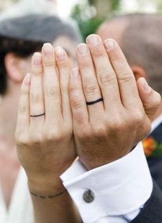 Wedding Ring Tattoos / http://www.himisspuff.com/wedding-band-ring-tattoos/