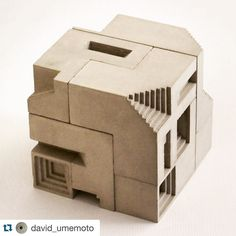 #Repost @david_umemoto  Soma Cube no.6 | Assembled 3x3 cube Modular concrete sculpture inspired by the Soma cube geometry made of 7 different polycubes. There are 240 possible solutions to create a 3x3 cube. They can also be assembled freely to create various 3D shapes. #artchitecture #artinstallation #sculpture #concrete #concreteart #concretearchitecture #modular #contemporaryart #modernart #modernarchitecture #interiordesign #cityscape #brutalism #escultura #visualarts  #artsy #instaarts…