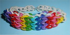 Triple Rainbow Brightly colored Stretch Rubber Band Bracelet $3.00