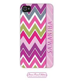 Bonnie Marcus - phone | iPhone 4/4S Cases | Plum Chevron iPhone Case 2D