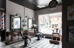 10325174_1509051662662407_5880913943595364371_n Barber Shop Interior, Barber Shop Decor, Salon Interior Design, Beauty Salon Interior, Salon Design, Barbershop Design, Barbershop Ideas, Layout, Beauty Room
