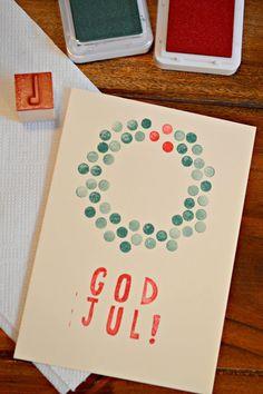 selbermachen God Jul Card