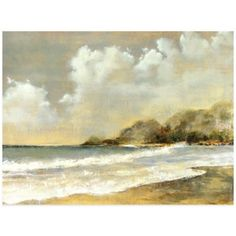 In this evocative Summer Sun Wall Art, the waves crash gently on an empty bay, while the sun comes out from behind fluffy clouds. It's a serene, impressionistic scene that will add a pretty view of nature to any space. Images Of Summer, Summer Sun, Impressionist, Bedding Shop, Waterfall, Canvas Art, The Incredibles, Wall Art, Abstract