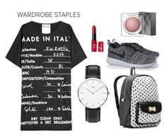 """Wardrobe Staple: T-Shirt Dress"" by ljubicica988 ❤ liked on Polyvore featuring Moschino, NIKE, Betsey Johnson, Daniel Wellington, Burberry and tshirtdress"