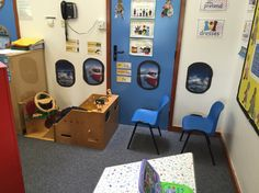 Aeroplane/airport role play area.