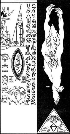 """""""The Death Posture"""" by Austin Osman Spare   source"""