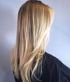 """Sun-Kissed Blonde...love the sun kissed blonde. Every new school year I would be asked by guys and girls if I colored my hair blonde. I'd say no and they never believed me.  Sun, Lake and chlorine. Still a water """"baby"""" at 50 but now need a little help covering some grey. This is gorgeous!"""