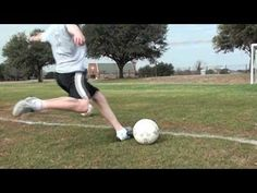 Soccer - How to Drive a Soccer Ball with Power / Driven Shot Tutorial by nickdabeast