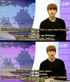 Tell it like it is Jin...kekeke Whoever made this...I love you.  | allkpop Meme Center