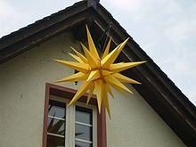 Moravian star - Wikipedia, the free encyclopedia