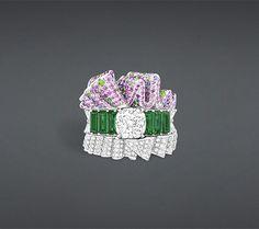 """Archi dior """"bar en corolle émeraude"""" bracelet - Dior"""