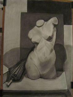 Desnudo al carboncillo