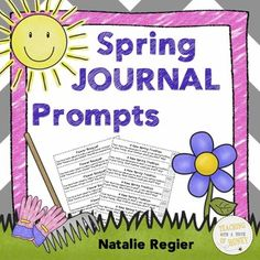 "$ Need ideas to get your students writing? Promote writing with these spring journal prompts. The ""Spring Journal Prompts"" package contains 25 writing prompts that you can use to support the development of your students' writing skills."
