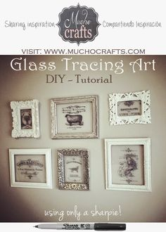 MuchoCrafts: DIY - TRACING ON GLASS -TUTORIAL