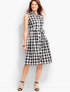 Talbots: Gingham Shirtdress