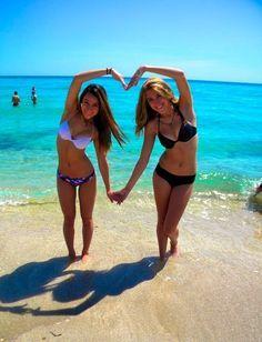 best friend beach poses - Google Search