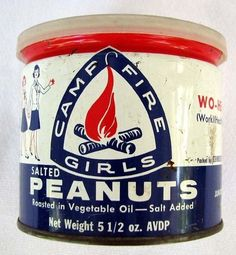 Camp Fire Girls Salted Peanuts (1960's).