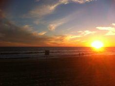 Sunset, Indian Ocean Trigg Beach Perth Western Australia w/ Anon Surfers
