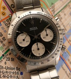 Historical Perspectives: The Very First Rolex Daytona, Explained (Or, What Is A Double-Swiss Underline Daytona?) - HODINKEE Best Watches For Men, Cool Watches, Rolex Watches, Rolex Daytona Watch, Rolex Cosmograph Daytona, Vintage Rolex, Vintage Watches, Paul Newman Daytona, Ap Royal Oak