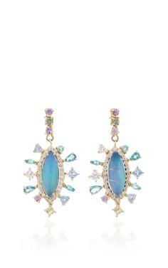 Ethiopian Opal Earrings by EDEN PRESLEY Now Available on Moda Operandi