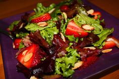 Strawberry balsamic vinegar salad (replace vegetable oil with olive oil and sugar with stevia)
