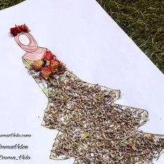 ec08135a305a7 Fashion designs and illustration idea 3D by lavander flowers for hijab  fashion