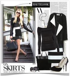 """Stylish in Black & White"" by malisha ❤ liked on Polyvore"