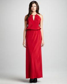 Tie-Back Maxi Dress - Neiman Marcus