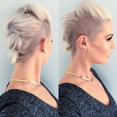 23 Most Badass Shaved Hairstyles for Women | Mohawks, Blondes and ...