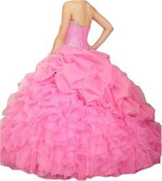 PromQueen Womens Beaded Ball Gown Sweet 16 Dresses Princess Quinceanera Dresses * You could get extra information at the photo link. (This is an affiliate link). Sweet 16 Dresses, 15 Dresses, Sexy Dresses, Blue Dresses, Formal Dresses, Ruffle Dress, Ruffles, Cheap Gowns, Hoop Skirt