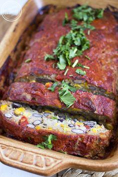 Pieczeń po meksykańsku Polish Recipes, Polish Food, Meatloaf, Steak, Mexican, Cooking Recipes, Beef, Homemade, Dishes