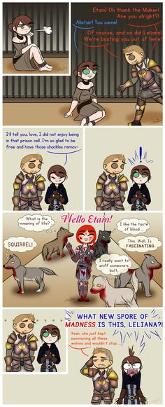 DAO: Who Let the Dogs In? by LiliumSnow.deviantart.com on @DeviantArt