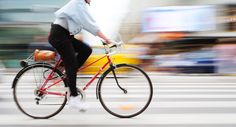 Commuting by bicycle may help you start your work day with less stress, compared to driving a car or taking public transportation.