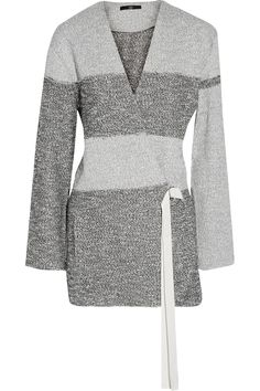 Shop on-sale Tibi Striped cotton-blend tweed-knit cardigan. Browse other discount designer Knitwear & more on The Most Fashionable Fashion Outlet, THE OUTNET.COM