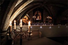 unusual wedding venues - The George Vaults – Kent What makes it unique: It's a century vault! Unusual Wedding Venues, Best Wedding Venues, Wedding Locations, Wedding Venue Inspiration, Wall Lights, Ceiling Lights, 14th Century, Priorities, Candle Sconces