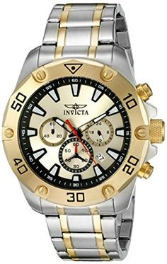 Invicta Men's 'Pro Diver' Quartz Stainless Steel Casual Watch (Model: INVICTA-20012) -- Read more reviews of the product by visiting the link on the image.