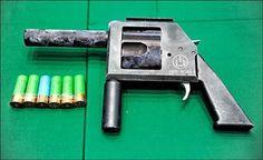 homade revolver shotgun pistol.