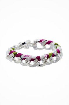 Vera Bradley Braided Chain Bracelet #accessories  #jewelry  #bracelets  https://www.heeyy.com/vera-bradley-braided-chain-bracelet-julep-tulip/