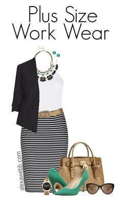 Plus Size Work Outfit - Plus Size Fashion for Women - Plus Size Work Outfit #alexawebb #plus #size