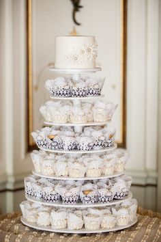 White Cupcake Tower