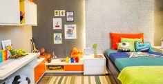 Quartos de bebê e criança - Casa e Decoração - UOL Mulher. Inspirada pela animação Monstros S.A, a arquiteta Clélia Regina Angelo projetou a Suíte do Menino.
