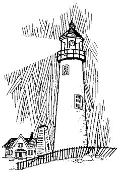 black and white photos of lighthouses | Lighthouse Clipart Black And White