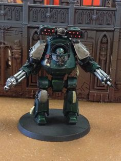 Contemptor Dreadnought with two assault cannons and Cyclone missile launchers.