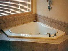 image result for tile around corner garden tub pictures