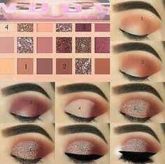 Makeup Eye Looks, Eye Makeup Steps, Natural Eye Makeup, Makeup For Brown Eyes, Natural Eyeliner, Natural Beauty, Huda Beauty Eyeshadow, Nude Eyeshadow, Beauty Makeup